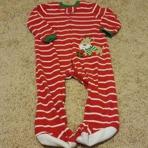 Other - Little Me fleece zippered Christmas pajamas